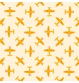 Airplane yellow seamless patten vector image