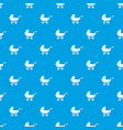 baby carriage pattern seamless blue vector image