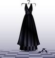 black dress and shoes vector image