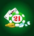 Gambling set vector image