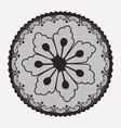 round lace flower napkin in monochrome silhouette vector image