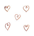 set of watercolor coffee hearts vector image