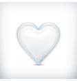 White heart icon vector image