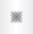 explosion fireworks icon design element vector image
