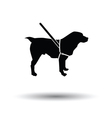 Guide dog icon vector image vector image