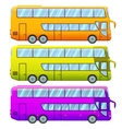 Touristic Double Decker Sightseeing Bus Collection vector image