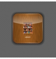 Library wood application icons vector image vector image