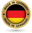 Made in Germany gold label vector image
