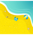 flipflops on the sand vector image vector image