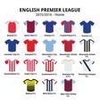 English Premier League 2015 - 2016 football icons vector image