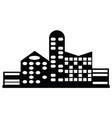 black city icon vector image