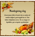 Card for thanksgiving day with the harvest vector image