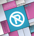 No parking icon sign Modern flat style for your vector image
