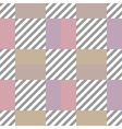 Seamless geometric checkered pattern Stripy vector image