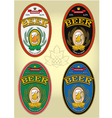 set of labels for beer vector image