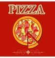 Pizza Menu Template in vintage retro grunge style vector image vector image