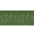 Camping horizontal seamless pattern background vector image vector image