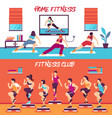 home class fitness banners set vector image