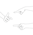 hand set B point vector image