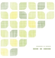 Abstract textile green rounded squares frame vector image