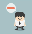 negative businessman vector image