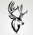 Deer Head Tribal vector image