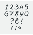 Calligraphic grunge numbers vector image