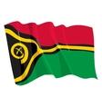 political waving flag of vanuatu vector image