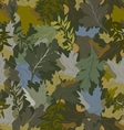 khaki background with autumn leaves 4 vector image