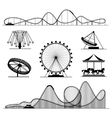Amusement ride or luna park roller coasters vector image