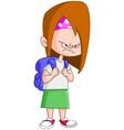angry schoolgirl vector image