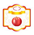 apple label vector image