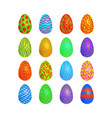 doodle easter eggs set vector image