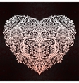 Lace heart art vector image