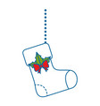 merry christmas socks decorative hanging vector image