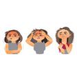 woman having flu - fever sore throat headache vector image vector image
