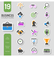 Business Strategy Icon Sticker Set vector image vector image