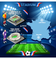 Lens Agglo Toulouse Soccer Stadium vector image vector image