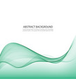 green abstract waves background vector image