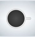 top view of mug with coffe icon on vector image