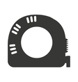 tape measure ribbon icon vector image