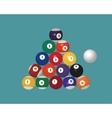 American pool billiard balls Top view vector image