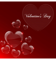 Valentines day celebrate card vector image