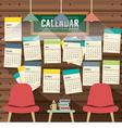 2017 Calendar Starts Sunday Library Concept vector image
