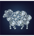 sheep made up a lot of diamonds vector image
