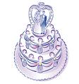 weddingcake vector image