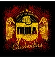 MMA labels on grunge background vector image