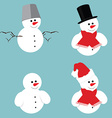 Snowman icon set vector image