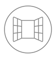 Open windows line icon vector image