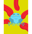 Narcotic frog Acid Blue Frog Narcotic reptile vector image